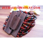 Wooden Sequin Bracelets