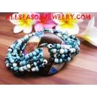 Wooden Sequins Bracelet