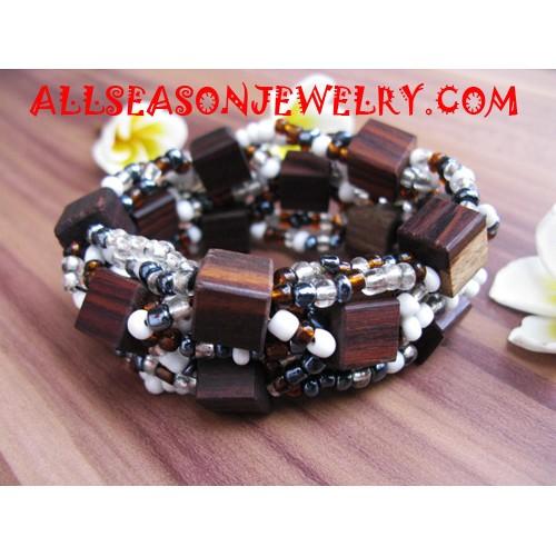 Wooden Sequins Bracelets