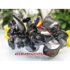 Black Seashell Bracelets