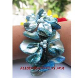 Blue Shell Bracelets Beads