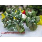 Green Seashell Beads Bracelets