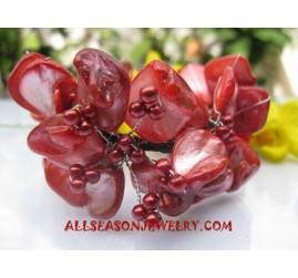 Red Shell Bracelets