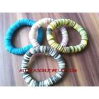 Elastic Shell Bracelets