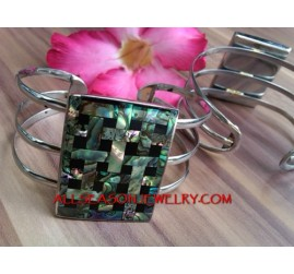 Abalone Stainless Cuff Fashion