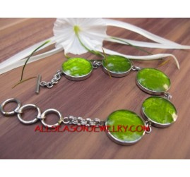 Bracelet Stainless Resin Shels