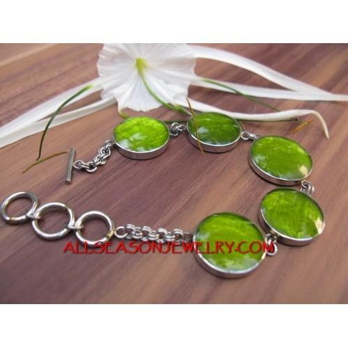 Bracelet Stainless Resin Shels