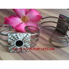 Cuff Bracelet Stainless Shell