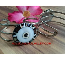 Stainless Cuff Bracelet Shell