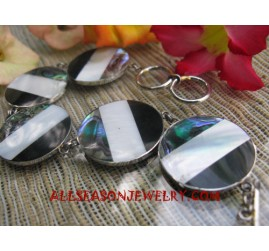 Paua Shell Bracelet Stainless