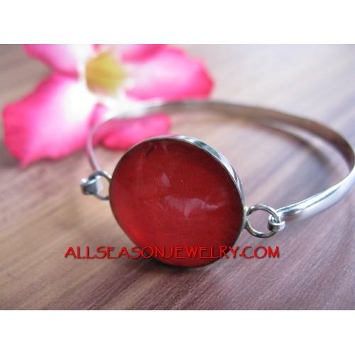 Resin Capiz Shell Bracelet