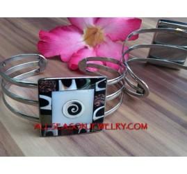Resin Cuff Bracelet Stainless