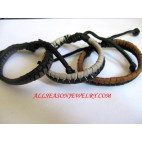 Elastic Leather Bracelet