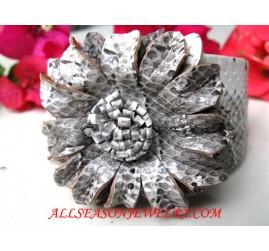 Grey Leather Bracelets