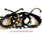 Leather Bali Bracelet