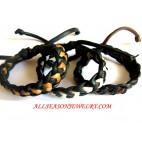 Leather Bali Bracelet