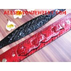 snake leather bracelet paint
