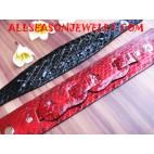 snake leather bracelet paint