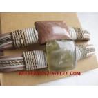Leather Bracelet Stone