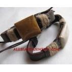 Laether Bracelets Stone