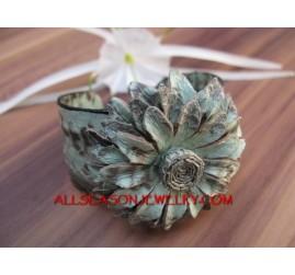 Flower Leather Bracelets