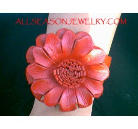 Women Fashion Leather Flower