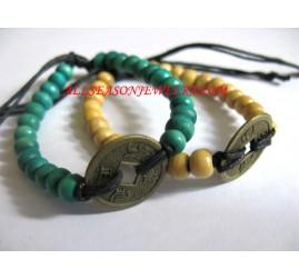 Coin Bracelets Wooden