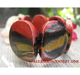 Painted Wooden Bracelet