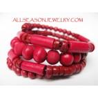 Wooden Bead Cuff Bracelets