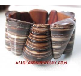 Wooden Bracelet with Shells