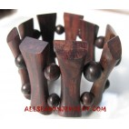 Wooden Bracelets Organic Stretch