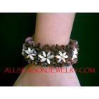 Bead Wood Stretch Bracelet