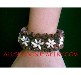 Bead Wood Stretch Bracelet