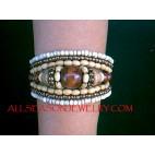 Wood Bead Cuff Bracelets