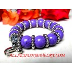Agate Glass Bead Bracelet