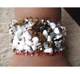 Bali Hemp Stone Bracelets