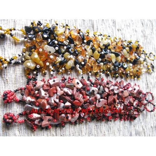 Multi Color Stone Bracelet