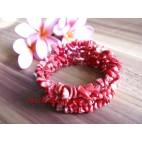 Spiral Red Stone Bracelet