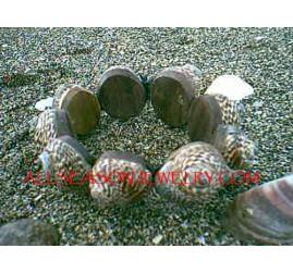 Dye Shells Bracelets Organic