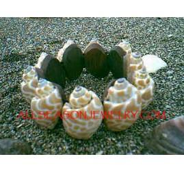 Tiger Shells Bracelets Organic