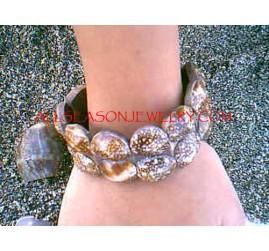 Organic Shells Bracelets Died