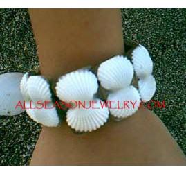 White Shells Organic Bracelets