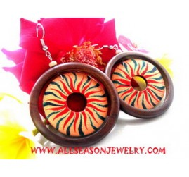 Design Earring Hand Painting