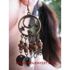 Beaded Woods Earring