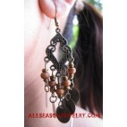 Beads Wood Earring