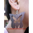Butterfly Earring Wooden