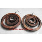 Carved Earring Wooden