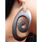 Carved Earrings Wooden