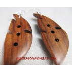 Carved Wooden Earring