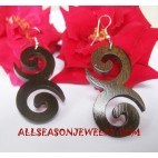Carving Earrings Wooden